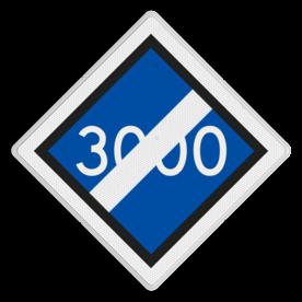 Bord einde bovenleidingspanning - RS 320a - 500x500 - Reflecterend