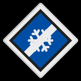 Treinlengtebord voor anti-icing - RS 373 - 500x500 Reflecterend