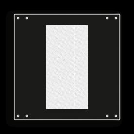 Bord afsluitlantaarn veilig - RS 244a - 300x300mm - Reflecterend