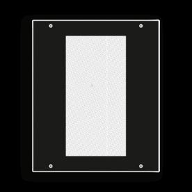 Bord afsluitlantaarn veilig klein - RS 244b - 250x300mm - Reflecterend