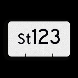 Wisselnummerbord St vlak dubbelzijdig - RS - 400x225mm - Reflecterend