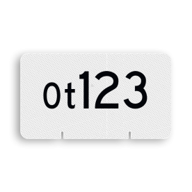 Wisselnummerbord Ot vlak dubbelzijdig - RS - 400x225mm - Reflecterend