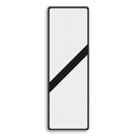 Bakenbord 1 schuine balk - RS 249 - 330x1000mm - Reflecterend