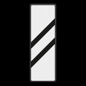 Bakenbord 2 schuine balken - RS 249 - 330x1000mm - Reflecterend