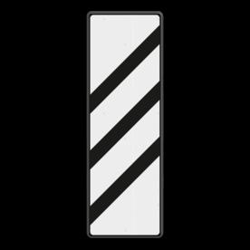 Bakenbord 3 schuine balken - RS 249 - 330x1000mm - Reflecterend