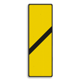 Bord Gele bakens 1 schuine balk - RS 251a/II - 330x1000mm - Reflecterend