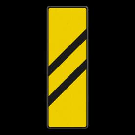 Bord Gele bakens 2 schuine balken - RS 251a/II - 330x1000mm - Reflecterend