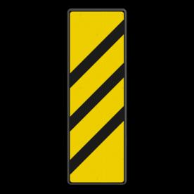 Bord Gele bakens 3 schuine balken - RS 251a/II - 330x1000mm - Reflecterend