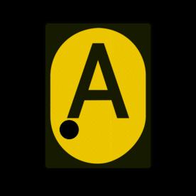 A-bord - RS 326a - 555x760mm met 1 uitsparing voor gele lamp