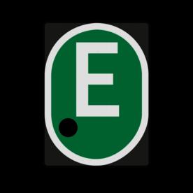 E-bord - RS 327a - 555x760mm met 1 uitsparingen voor gele lamp