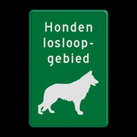Informatiebord Honden losloopgebied - Duitse herder