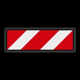 Facultatief stopbord - RS 301b - 650x220mm - Reflecterend