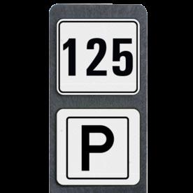 Huisnummerpaal met BORD Modern met P