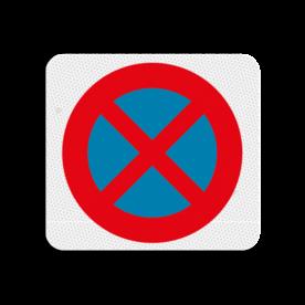Terreinbordje verboden te parkeren 119x109mm