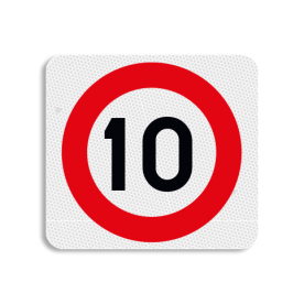 Terreinbordje maximum snelheid 10km 119x109mm