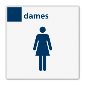Bord services dames toilet - Reflecterend