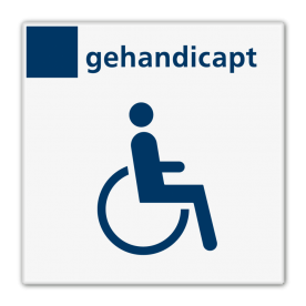 Bord services toilet gehandicapten - Reflecterend