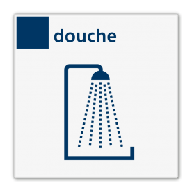 Bord services douche - Reflecterend