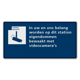 Communicatiebord videobewaking - 320x160mm Reflecterend