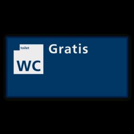 Communicatiebord Gratis WC - 320x160mm Reflecterend