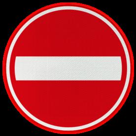 Verkeersbord RVV C02 - Eenrichtingsweg, in deze richting gesloten