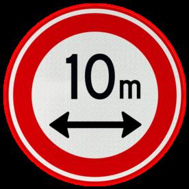 Verkeersbord RVV C17 - Gesloten voor te lange voertuigen