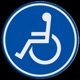 Verkeersbord RVV G08a - Mindervalidenpad