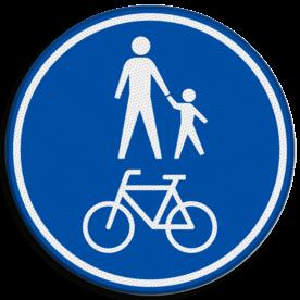 Verkeersbord RVV G11b - Gezamelijke fiets- en voetpad