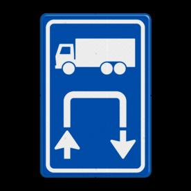 Inritbord BT15br - vrachtwagens rechtsom