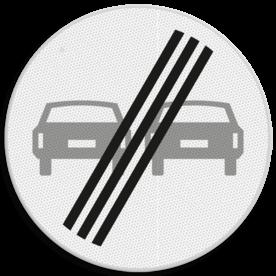 Verkeersbord RVV F02 - Einde inhaalverbod voertuigen