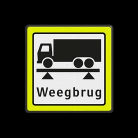 Verkeersbord RVV OBD08 Onderbord - weegbrug + FLUOR
