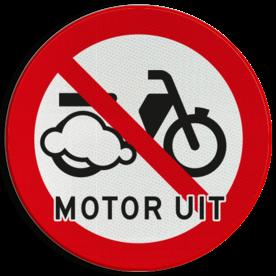 Verkeersbord Motor uitschakelen - Bromfietsen