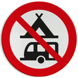 Verbodsbord - Kamperen verboden