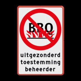 Verbodsbord - Verboden te BBQ'en