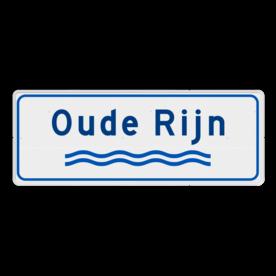 Verkeersbord Rivieren naam - wit/blauw