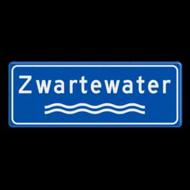 Verkeersbord Rivieren naam - blauw/wit