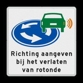 Verkeersbord - D01 - Richting aangeven op rotonde