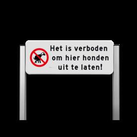 Verkeersbord unit type TS - Honden verboden uit te laten