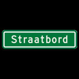 Straatnaambord groen 10 karakters 600x150mm