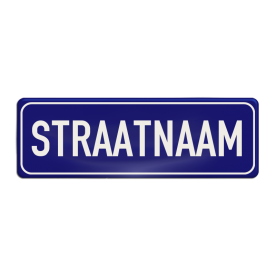 Straatnaambord aluminium DOR 600x200mm - type Binnenstad