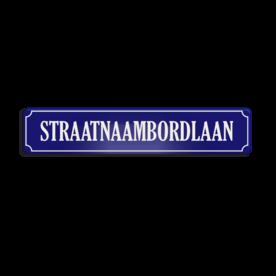 Straatnaambord aluminium DOR 1000x200mm - type Binnenstad