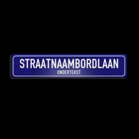 Straatnaambord aluminium DOR 1000x200mm met ondertekst - type Binnenstad