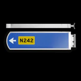 Lichtwegwijzer LWW2c - LED - RVS behuizing 1875x120x580mm