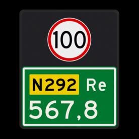 Hectometerbord BB10 Re 500x600mm met A01-100