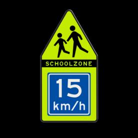 SCHOOLZONE puntbord 700x1400mm met adviessnelheid