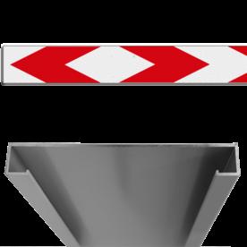 Schrikhekplank RVV BB17-1 C-profiel pijlmotief, 2 richtingen
