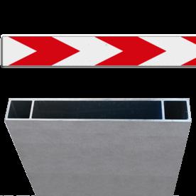 Schrikhekplank RVV BB18-1 Kokerprofiel enkelzijdig pijlmotief, 1 richting