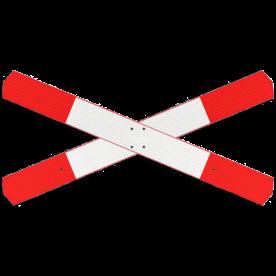 Andreaskruis - verzwaard - klasse 3 reflecterend - 2 bladen