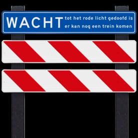 Spoorwegovergang hekwerk voor bewaakte overgang - linkse uitvoering - klasse 3 reflecterend
