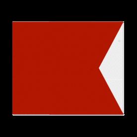 Nautische seinvlag model B - 1200x900x2mm - klasse 3 reflecterend